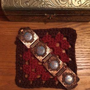 Jewelry - Vintage Copper Art Glass Bracelet